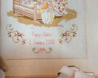 Newborn Baby Sampler Cross Stitch Pattern