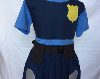 Officer Judy Hopps from Zootopia-inspired Comfy T-Shirt Dress, sizes 2 and 3