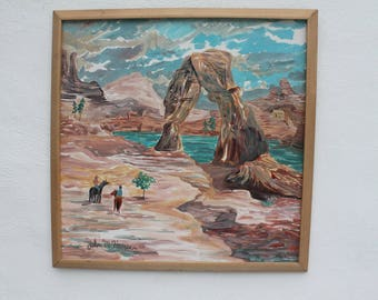 Vintage Abstract Spressionist Painting By John M. Harper.