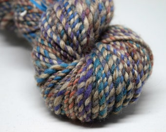 Handspun yarn | WATERCOLOUR | ~125g | kent romney, finn, silk