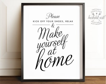 Remove shoes sign, Shoes off sign, PRINTABLE art, Mud room decor, Shoes off print, Please remove your shoes, Welcome sign, Entry room decor