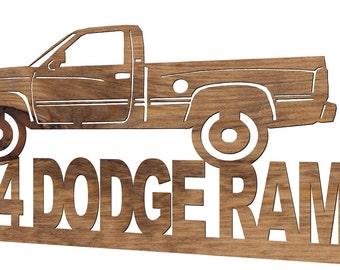 1994 Dodge Ram Pick Up Truck Wooden Handmade Decorative Plaque