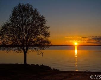 Wisconsin lake at sunrise P1057 North woods