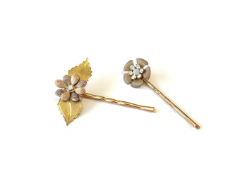 Flower bobby pin, bobby pin set, hair accessory, fancy bobby pin, floral hair pin, flower hair accessory, bridesmaid gift
