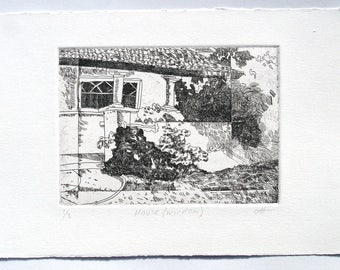 House (window) - etching