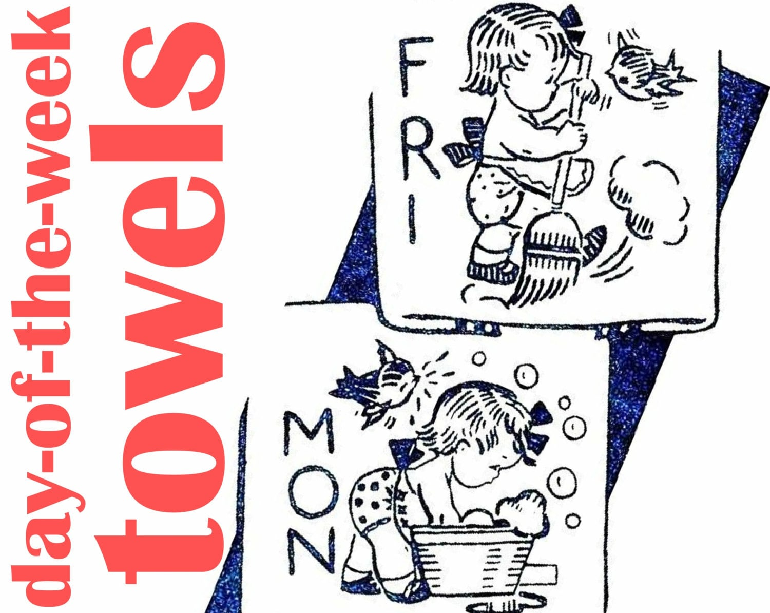 Day of the week towels pattern vintage embroidery pattern pdf zoom bankloansurffo Images