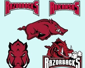 Razorbacks Arkansas SVG DXF Printable Clipart Vector Razorbacks Cut File