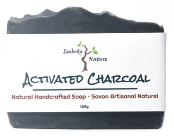Activated Charcoal Soap, Natural soap, Detox Soap, Acne soap, Cold process soap