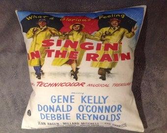 Singin' In The Rain movie poster cushion/pillow size 16'' X 16''