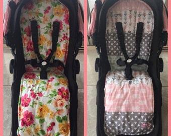handmade Baby Girl Pram Stroller Reversible Liner Bugaboo Cameleon Buffalo Baby Shower Gift