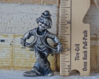 Peltro clown figurine - Vintage Peltro figurine - Italian Peltro clown - Pewter circus clown - Collectible Peltro figurine - Italy