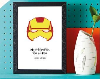 Fathers Day - Super Hero - Iron Man - Gift