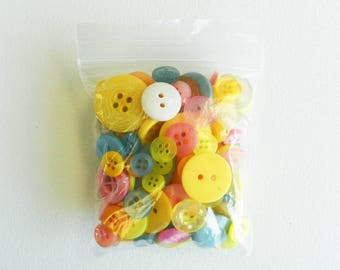 Bags of Crafting Buttons in Pastel Shades suitable for many crafts including card making, scrap booking and sewing