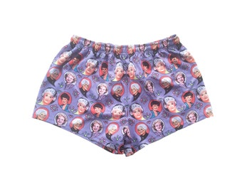 Stay Golden footy shorts golden girls print for lads and ladies