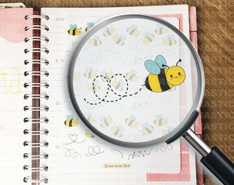 54 Bee Stickers | Ideal for planners, calendars, journals, scrapbooks