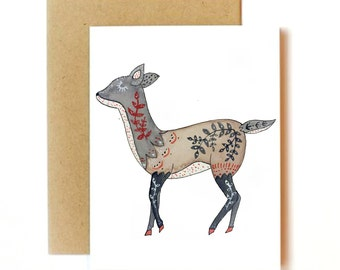 Tattooed Animal Card Set | Printed Set of 3, 15, or 24