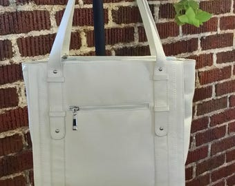 Cream Tote -conceal carry