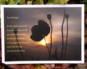 Lest We Forget (Greeting Card)