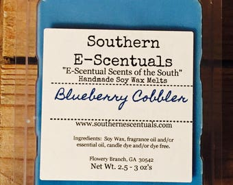 Blueberry Cobbler, Wax Melt, Wax Tarts, Breakaway Scented Wax Cubes, Wickless Candle, Candle Wax Melts, Stocking Stuffer, Bakery Scents