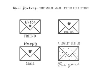 Snail mail envelope stickers