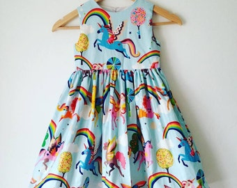 magical unicorn, girls unicorns dress, rainbows and unicorns, girls handmade dress, kids clothes, girls dresses, toddler, babies dress, baby