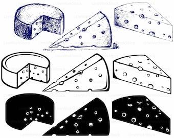 Käse clipart schwarz weiß  Käse clipart | Etsy