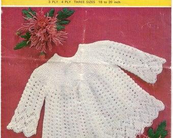 EMU 8537 Vintage Knitting Pattern, Baby Knitting Pattern, Angel Top Knitting Pattern