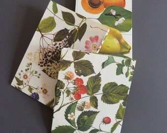 Gift bags from vintage paper, each in the SET of 3 with different motives,