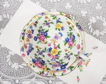 Rosina Chintz Floral Bone China Teacup and Saucer