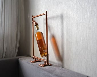 COPPER FRAME WINE holder 7, wine holder, wine display, wine picture, wine expositor, wall wine display, wall wine rack, wall wine holder
