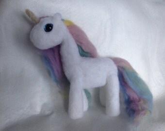 Unicorn Pastel Beauty ooak Soft Sculpture
