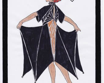 1930s Dress Pattern Art Deco Dress Norma - PDF Sewing Pattern Size US16/UK20/DE46