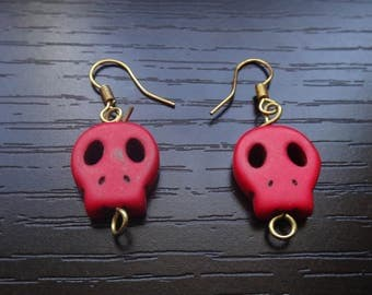 Red Skull Earrings Accessories
