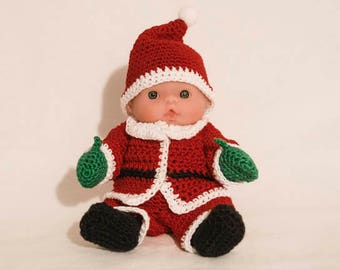 Santa Claus Outfit for the Itty Bitty Baby by Berenguer Lots to Love Baby Doll
