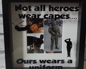 Military Father's Day box frame