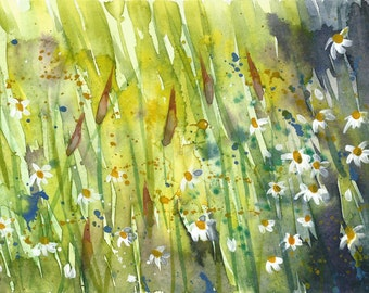Wildflowers 1 | original painting | gouache | watercolour | flower painting | flowers | daisy | daisies | Tracy Butler