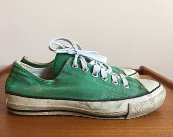 1980s Converse All Star Chuck Taylor Made in U.S.A Green