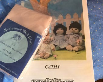 Soft Sculpted Cloth Doll Pattern + Cloth