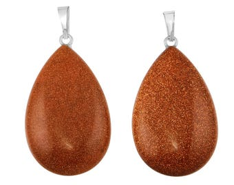 1 Pc 23x41 mm Goldstone Teardrop Gemstone Pendant (GSP100275)