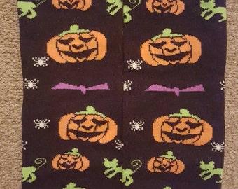 black pumpkin halloween baby leg warmers