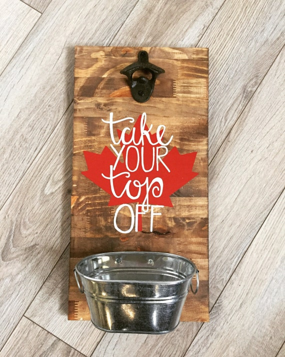 beer bottle opener sign with tin bucket drink local state. Black Bedroom Furniture Sets. Home Design Ideas