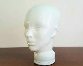 Cabeza de cristal blanca / white glass head