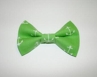 Dog BOW TIE, Dog Bowtie, Bow Tie, Nautical Bow Tie, Anchor Bow Tie, Green Dog Bow Tie, Green