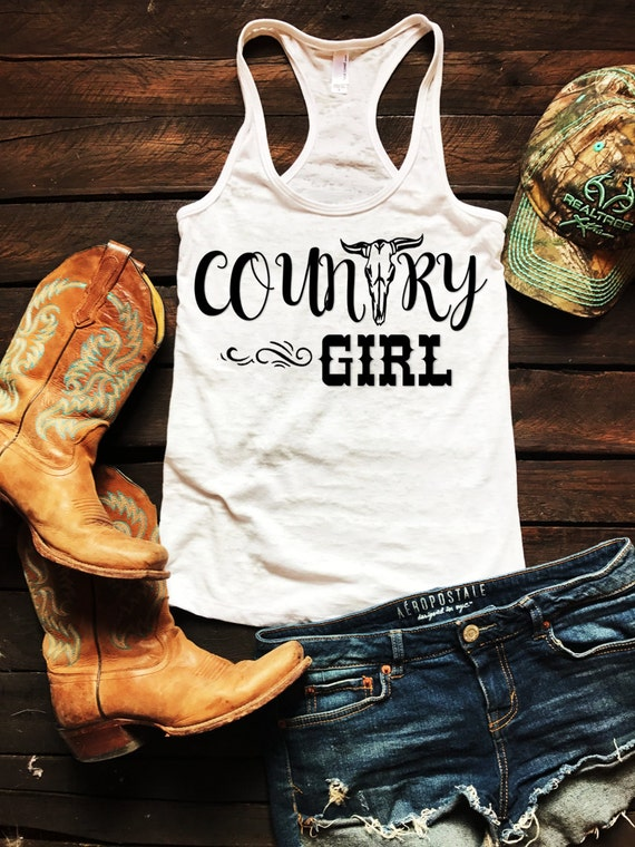 Country Bull Skull Burnout Tank Country Tank Top, Spring Break Tank Top, Southern Tank Top, Concert Tank Top, Drinking Shirt