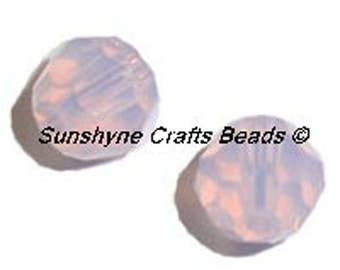 Swarovski Crystal Beads 12 Pcs 5000 Series ROSE WATER OPAL 6MM Faceted Round Bead