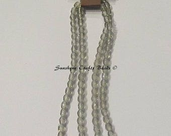 Preciosa Czech Fire Polished Beads BLACK DIAMOND 4MM Faceted Round Bead 100 pcs