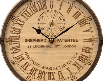 Greenwich Galvano-Magnetic Clock in Wood  - Shepherd Gate Clock - Limited Edition