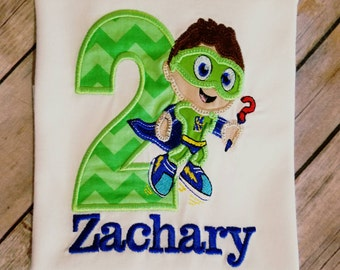 Whyatt from Super Why Birthday shirt. Pick your colors! Can do for boy or girl!