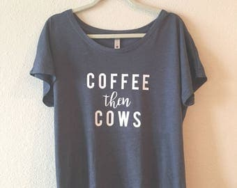 Coffee Then Cows - Raglan Top
