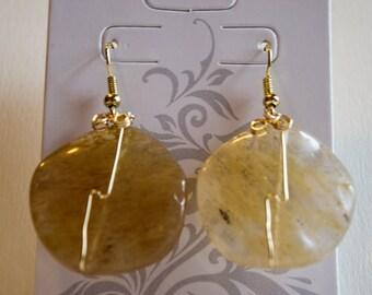 Honey Quartz Earrings